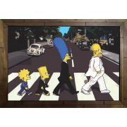 Quadro Decorativo Os Simpsons MDF 50 x 35 M025