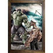 Quadro Decorativo Popeye e Hulk MDF 50 x 35 I044