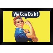 Quadro Decorativo We Can Do It MDF 50 x 35 D004