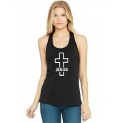 Regata Feminina Algodão Religiosa Crucifixo Jesus ER_168