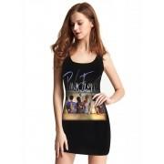 Vestido Feminino Full Printed Banda Pink Floyd Womens Back FP_008