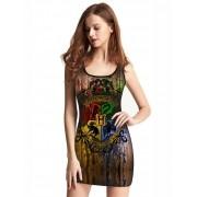 Vestido Feminino Full Printed Harry Potter Hogwarts FP_022