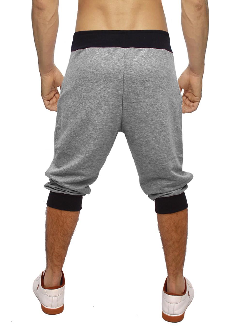 Bermuda Jogger Moletom Masculina 3/4 Mescla