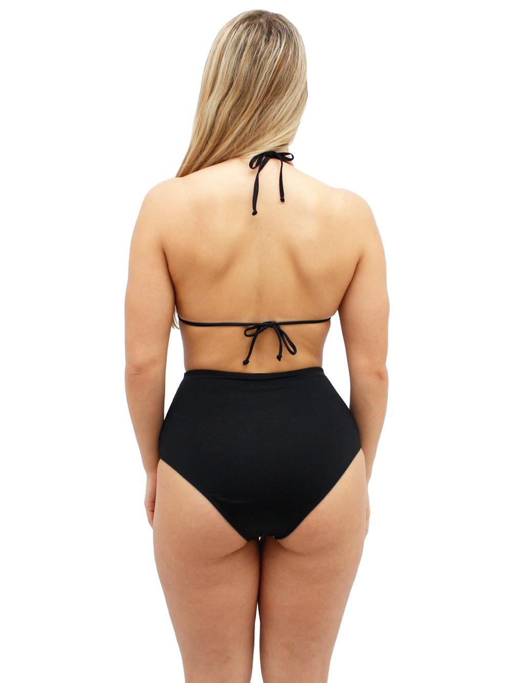 Biquini Hot Pants Cortininha Liso Bojo