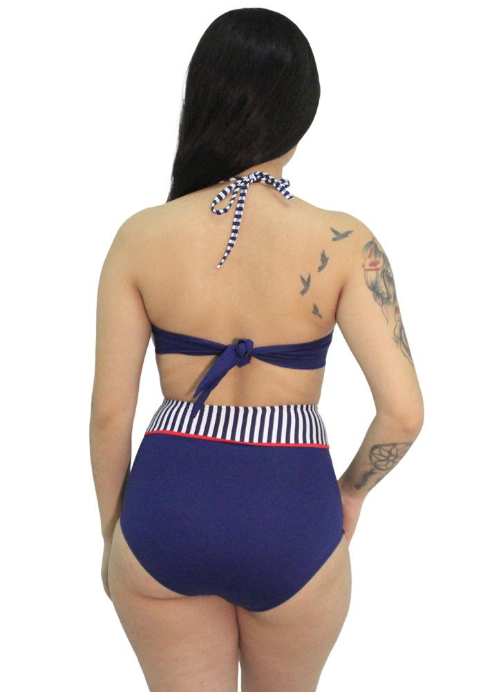 Biquini Retrô Pin Up Navy