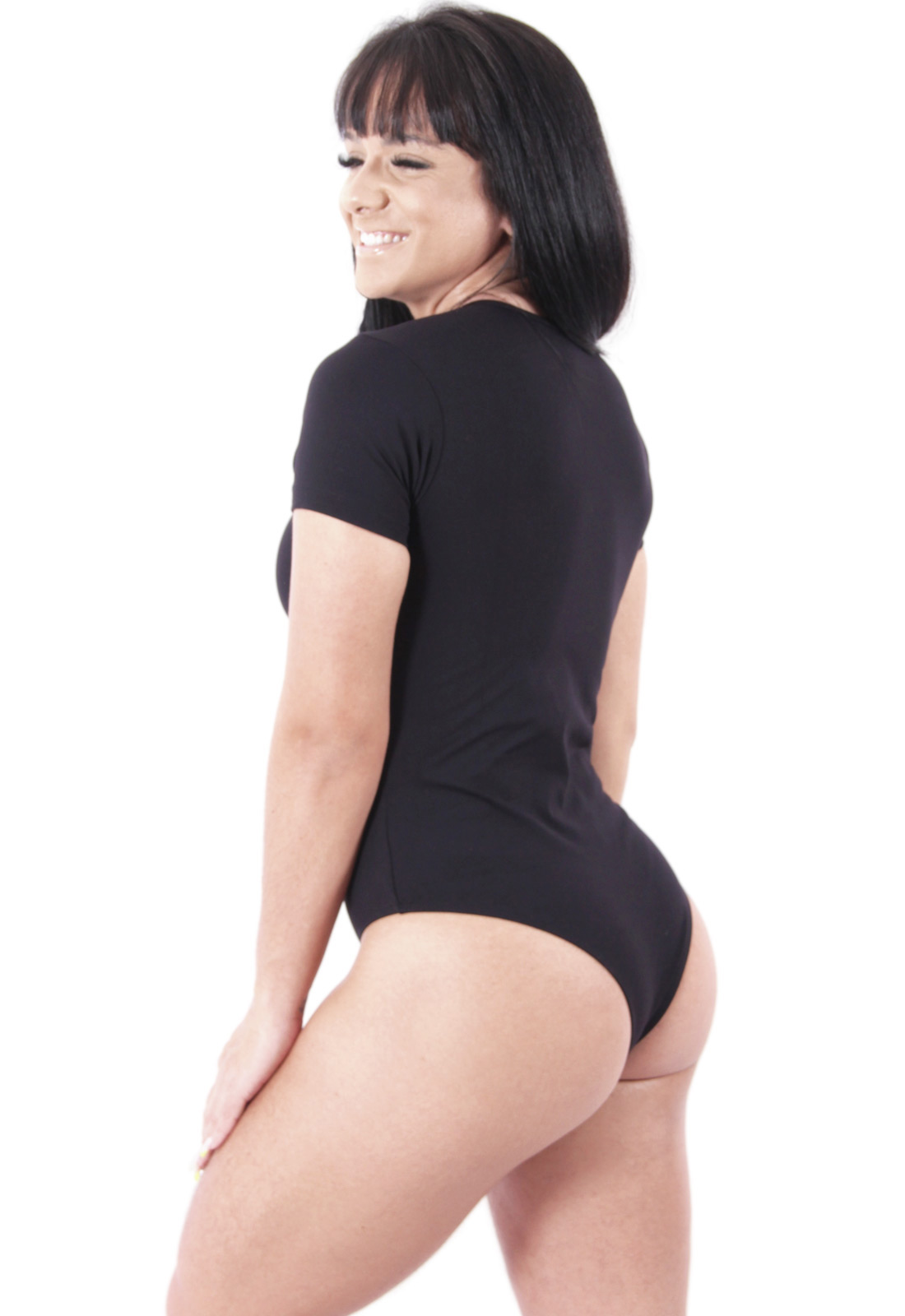 Body Feminino Liso Collant Suplex Poliamida