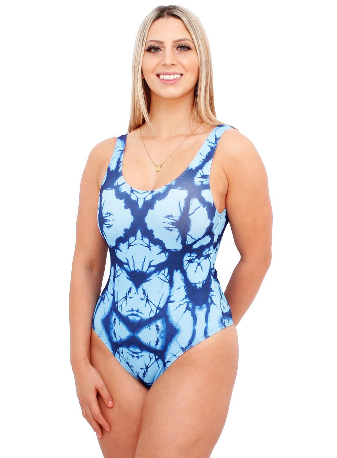 Body Suplex Feminino Regata Collant Tie Dye