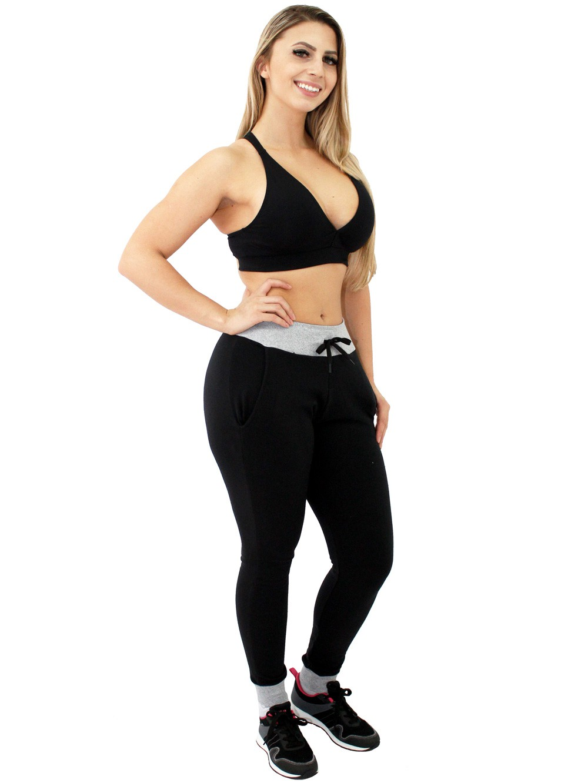 Calça Molecotton Feminina Jogger Estilosa Stretch