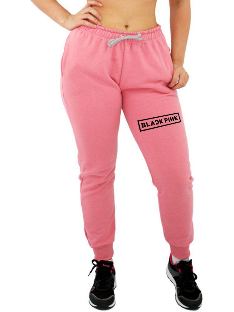Calça Moletom Feminina Jogger Kpop Black Pink ER_044