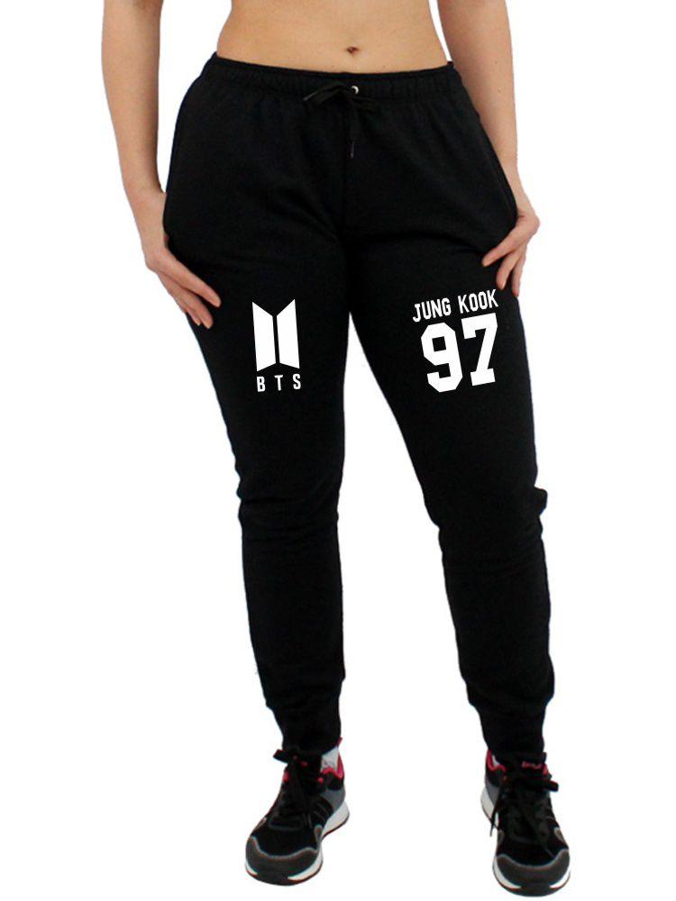 Calça Moletom Feminina Jogger Kpop BTS Integrantes Jung Kook 97 ER_109