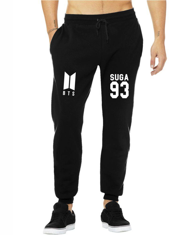 Calça Moletom Masculina Jogger Kpop BTS Integrantes Suga 93 ER_105