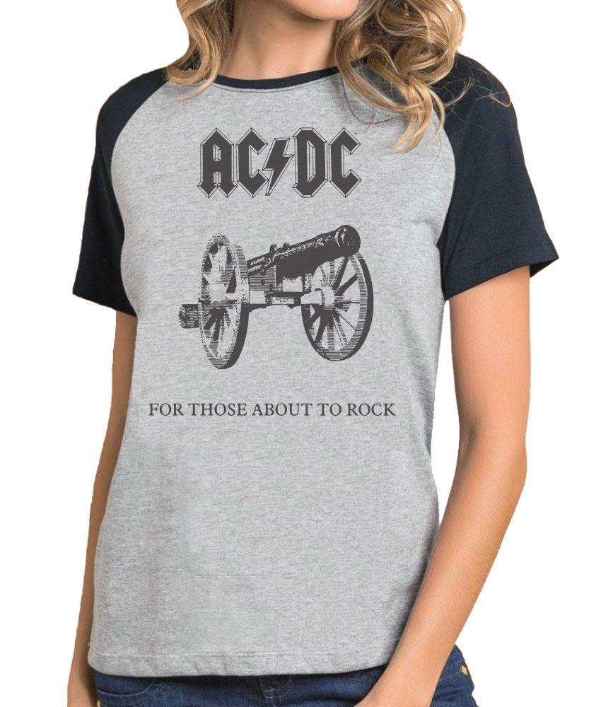 Camiseta Fem Raglan AC DC For Those About to Rock ES_001