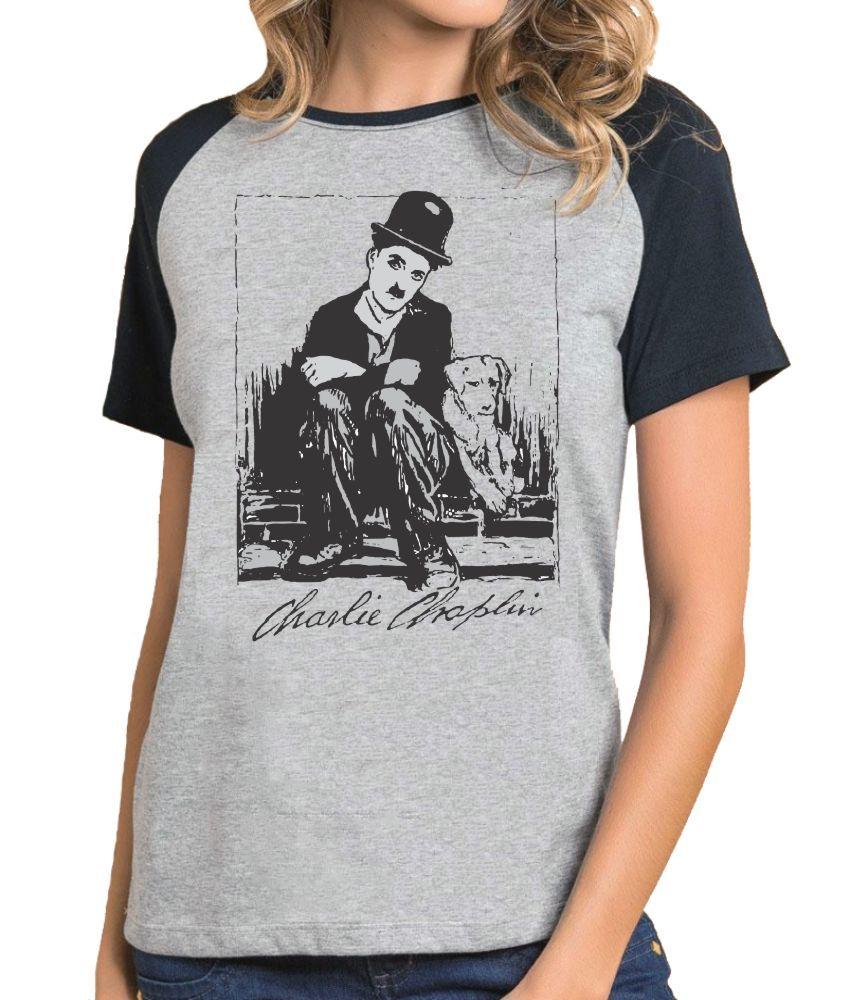 Camiseta Fem Raglan Charlie Chaplin ES_014