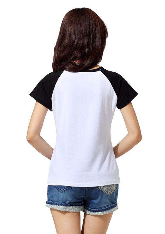 Camiseta Feminina Raglan Básica Lisa