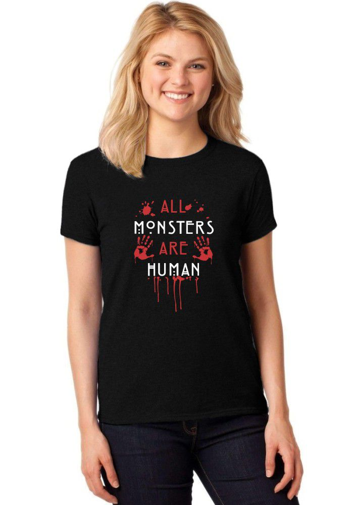 Camiseta Feminina T-Shirt American Horror Story All Monsters Are Human Baby Look ER_085