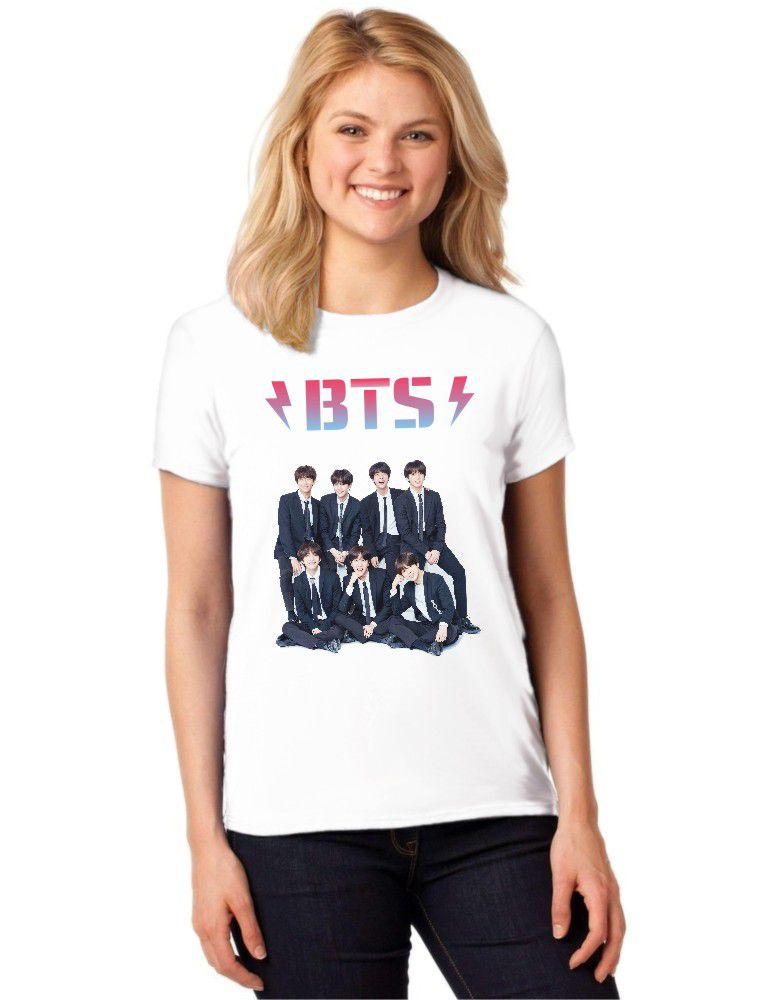 Camiseta Feminina T-Shirt BTS Bangtan Boys Kpop Baby Look ES_130