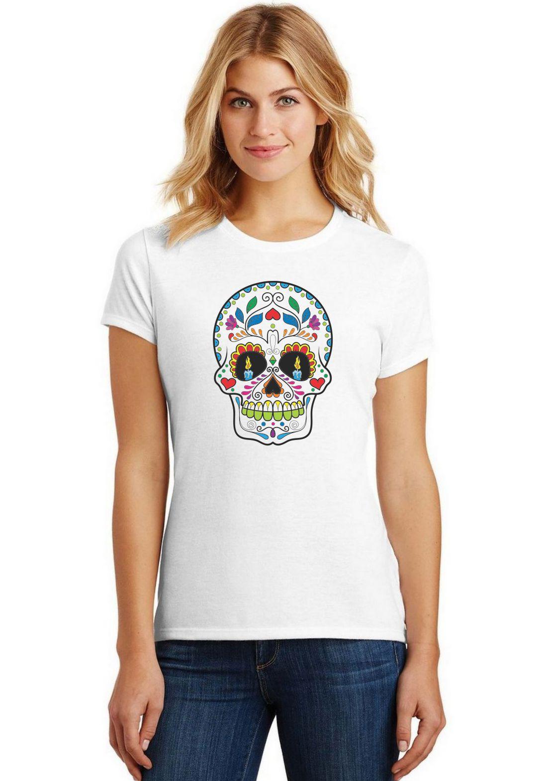 Camiseta Feminina T-Shirt Caveira Mexicana ES_017