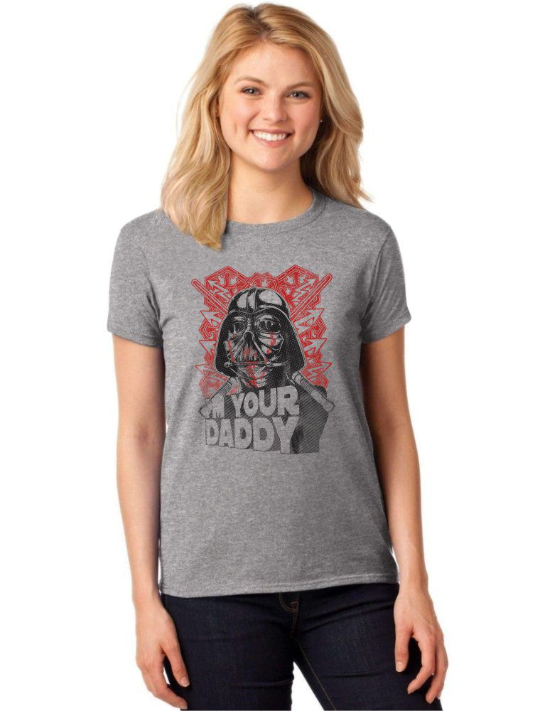 Camiseta Feminina T-Shirt Darth Vader I'm Your Daddy Baby Look ES_063