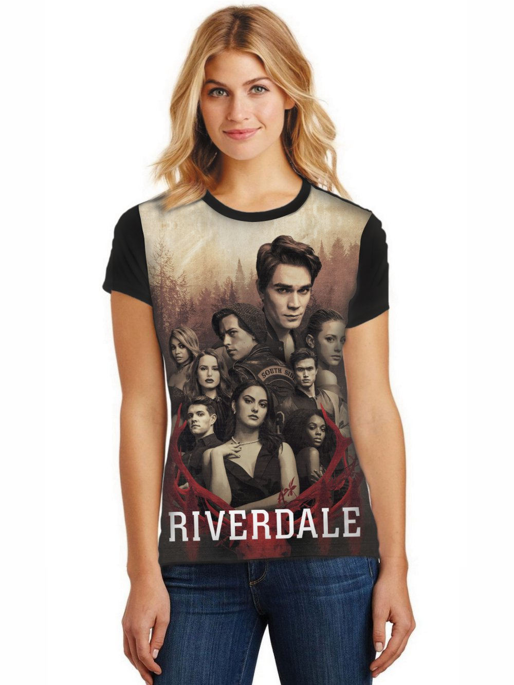 Camiseta Feminina T-Shirt Full Printed Riverdale Baby Look FP_003