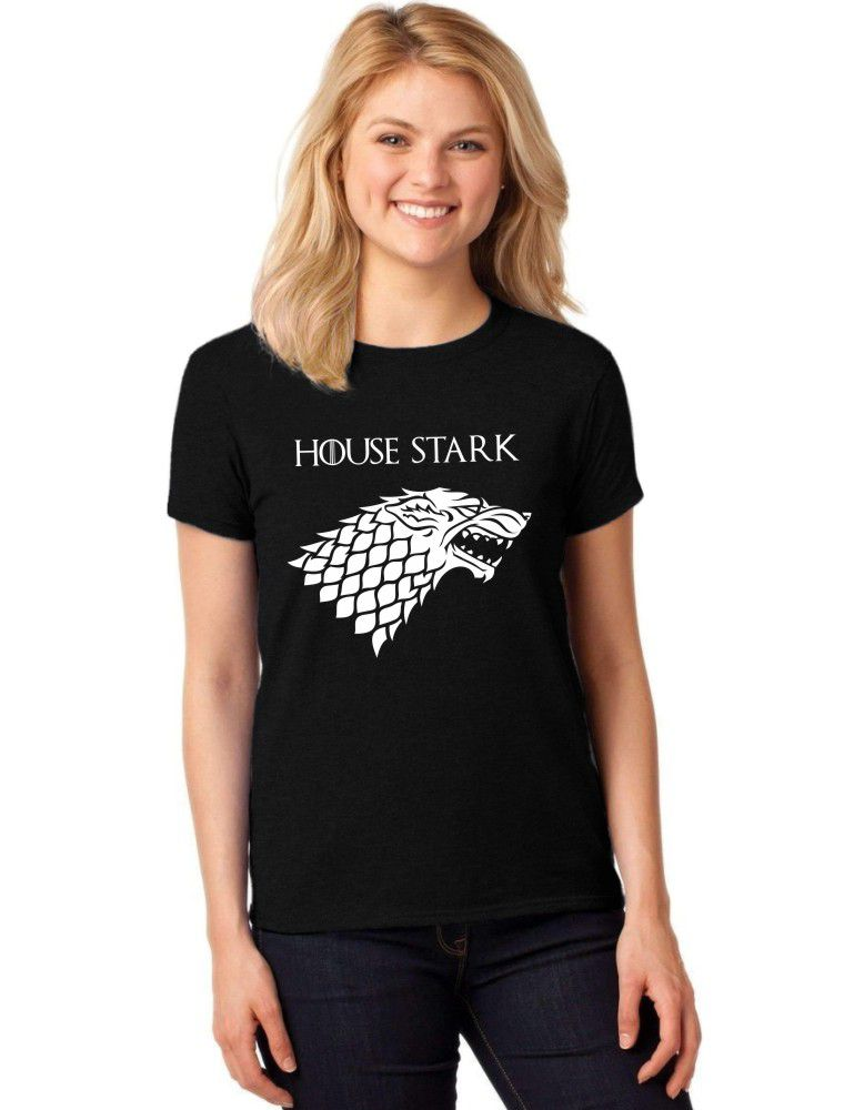 Camiseta Feminina T-Shirt Game Of Thrones House Stark Baby Look ER_128