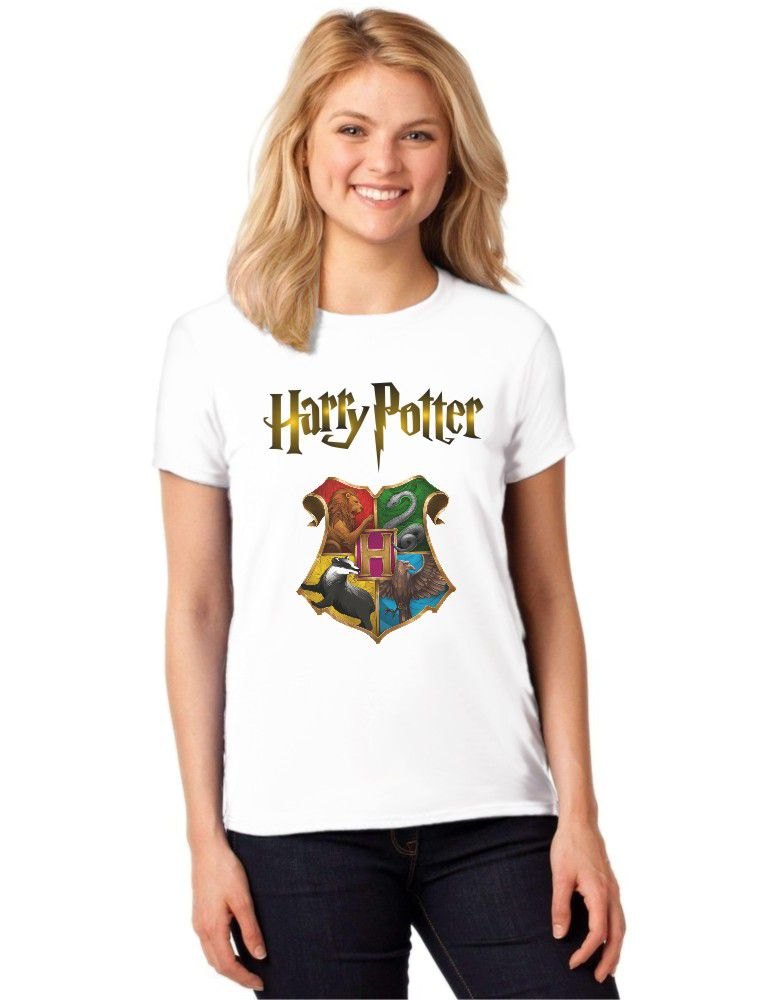 Camiseta Feminina T-Shirt Harry Potter Hogwarts Baby Look ES_133