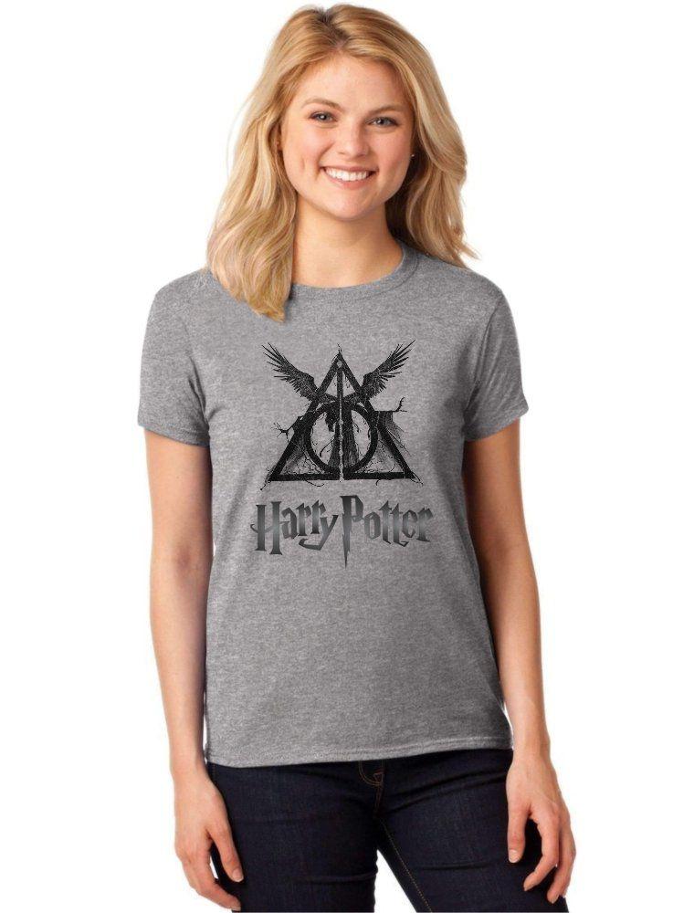 Camiseta Feminina T-Shirt Harry Potter Relíquias da Morte Baby Look ES_135