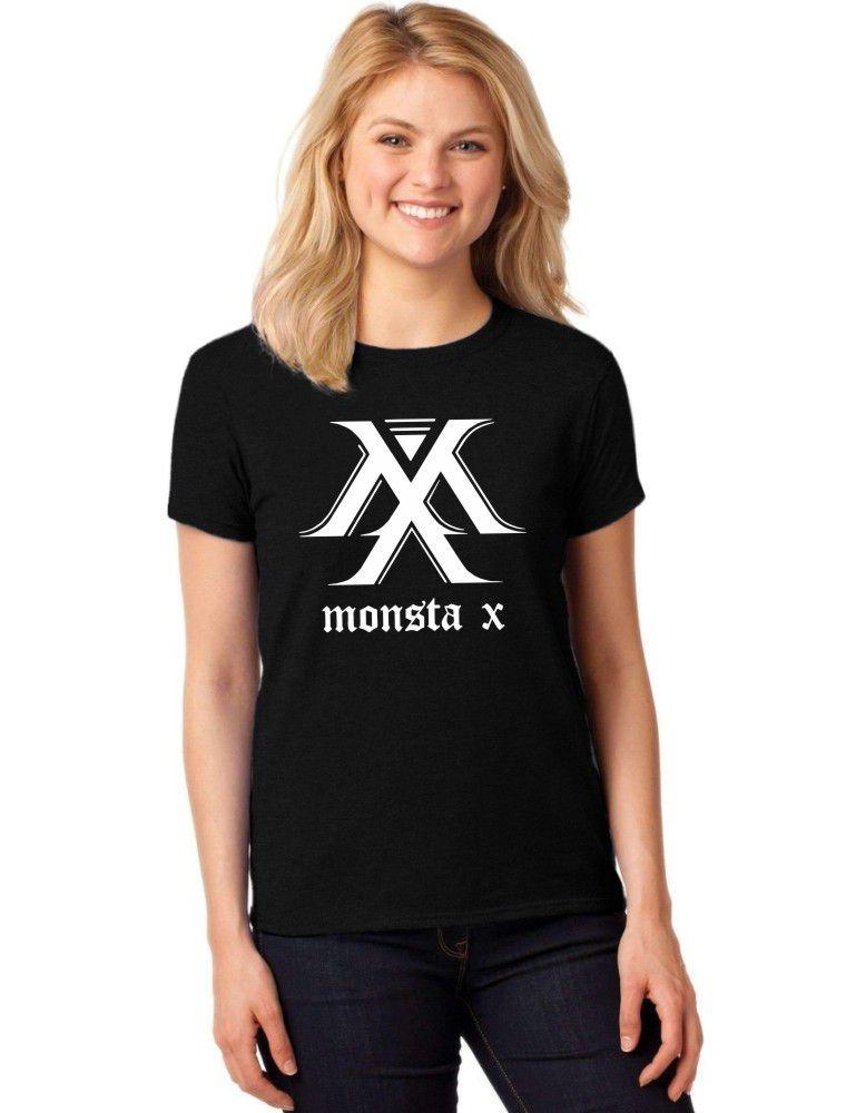 Camiseta Feminina T-Shirt Kpop Monsta X Baby Look ER_132