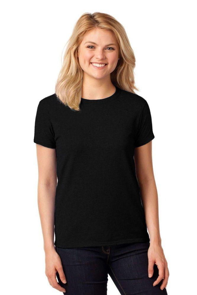 281ceab1b265a Camiseta Feminina T-Shirt Lisa Algodão Básica