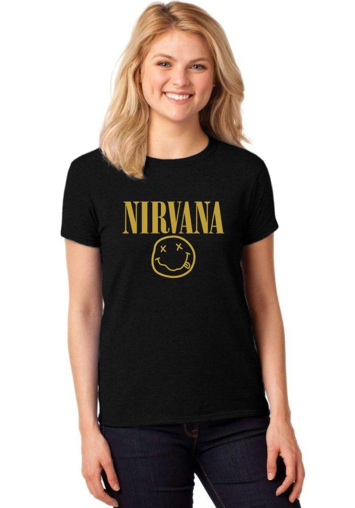 Camiseta Feminina T-Shirt Nirvana Baby Look ER_012