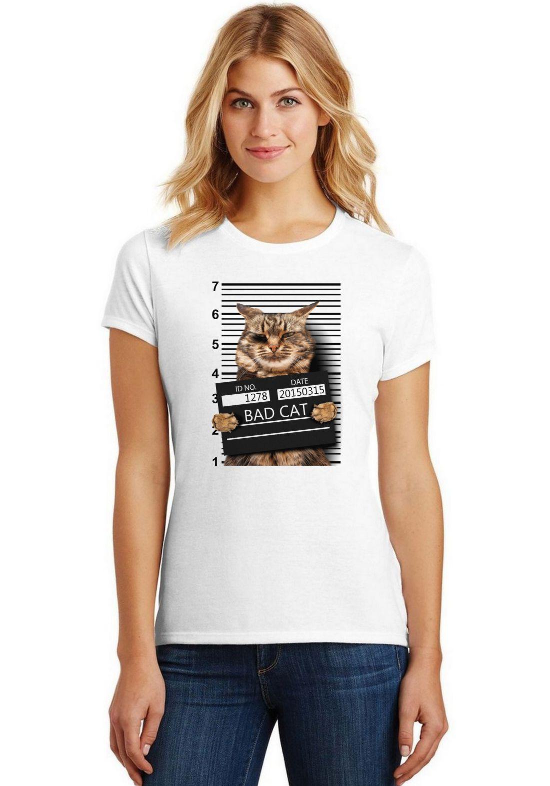 Camiseta Feminina T-Shirt Pets Bad Cat ES_196