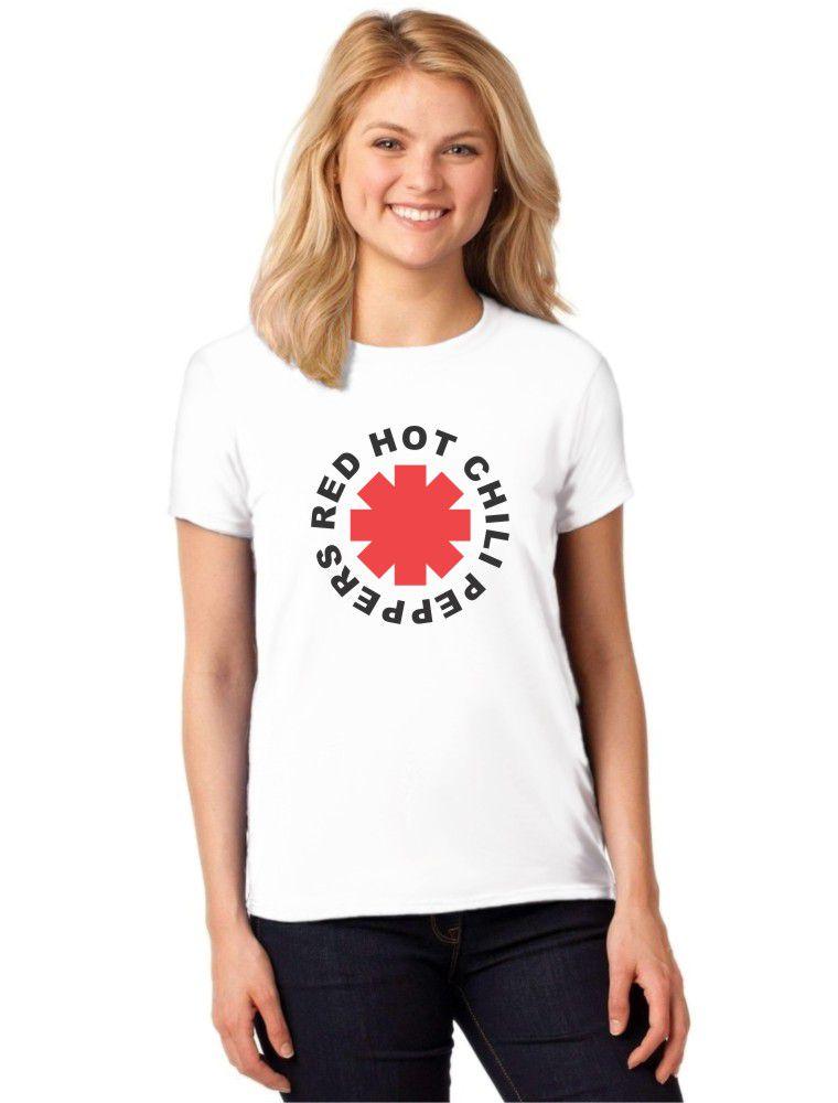 Camiseta Feminina T-Shirt Red Hot Chili Peppers Baby Look ES_089