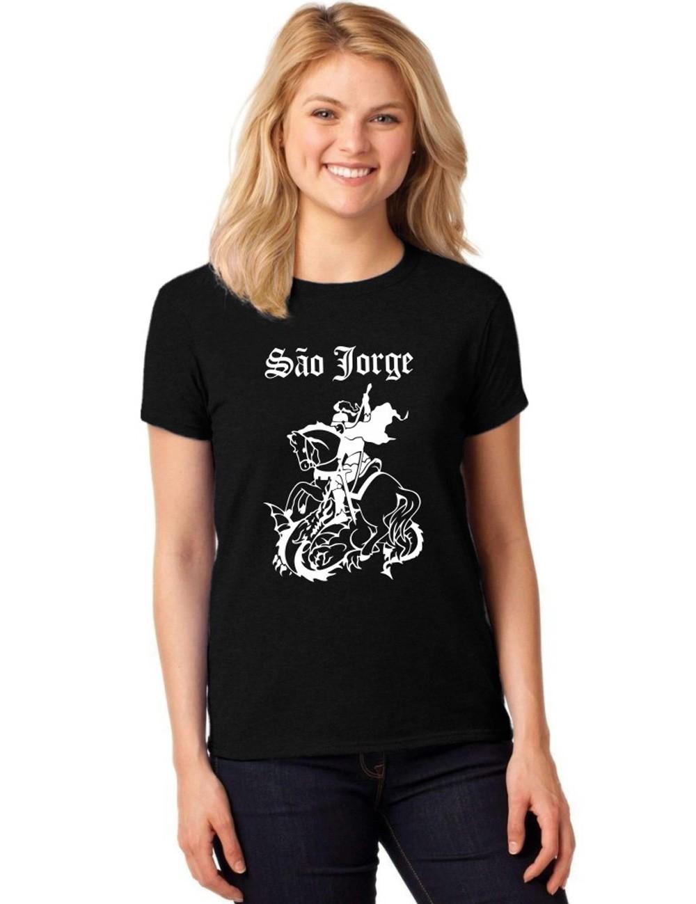 Camiseta Feminina T-Shirt São Jorge Baby Look ER_121