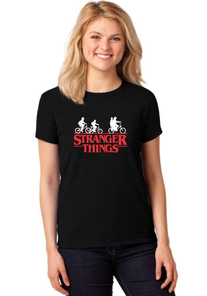Camiseta Feminina T-Shirt Série Stranger Things Baby Look ER_050
