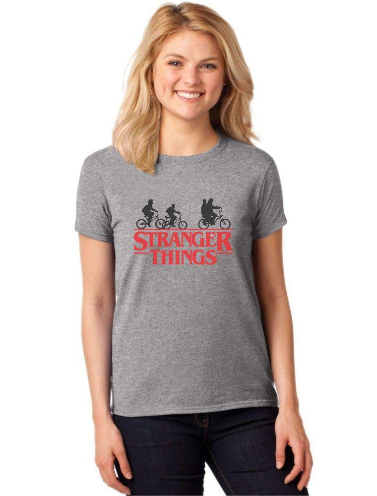 Camiseta Feminina T-Shirt Série Stranger Things Baby Look ES_096