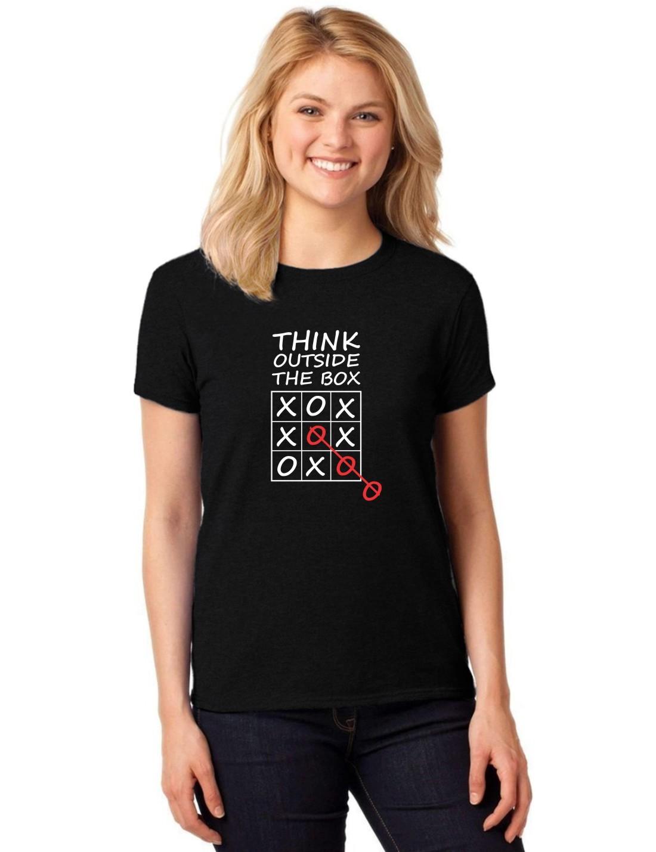 Camiseta Feminina T-Shirt Think Outside The Box Baby Look ER_065