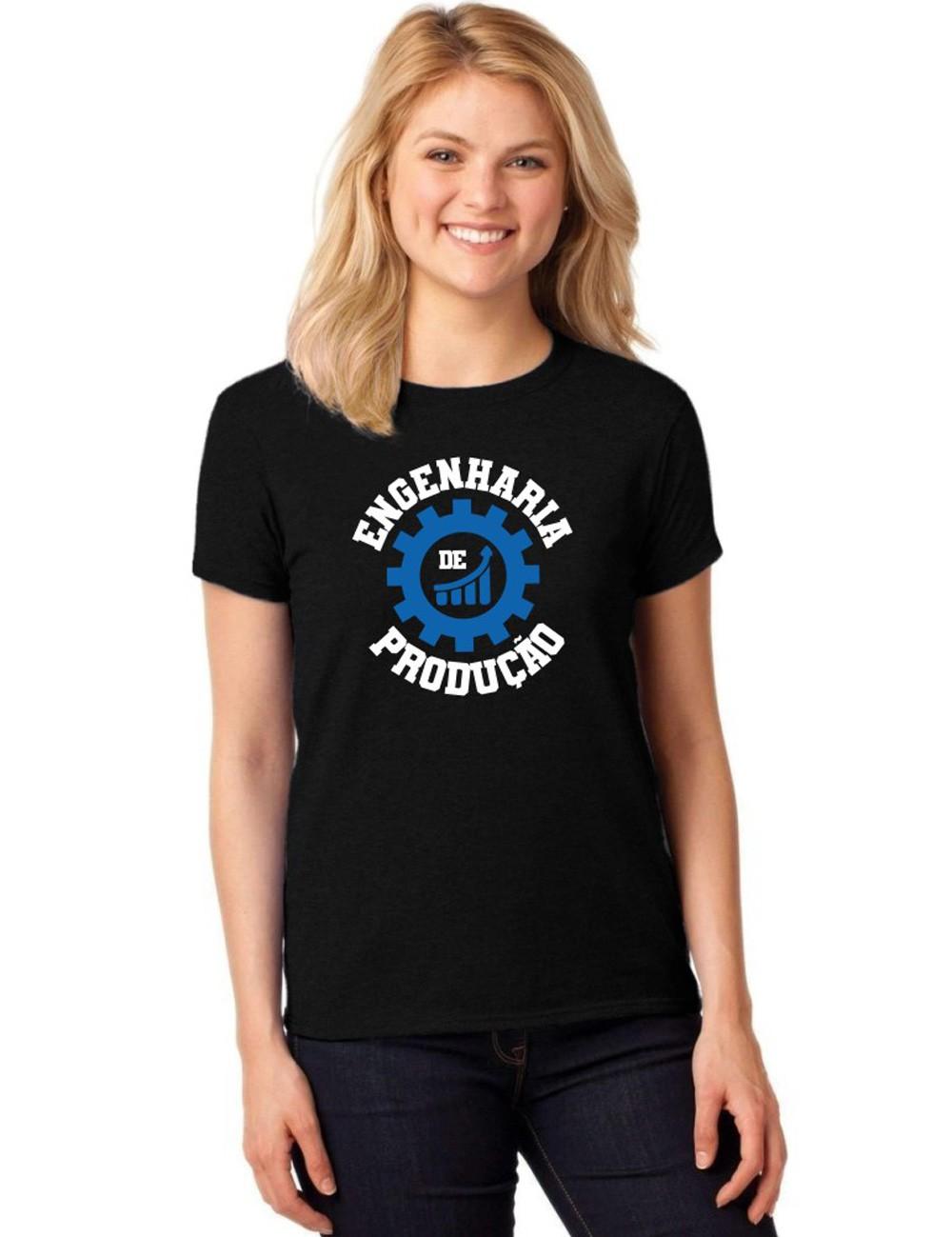 Camiseta Feminina T-Shirt Universitária Faculdade Engenharia de Produção