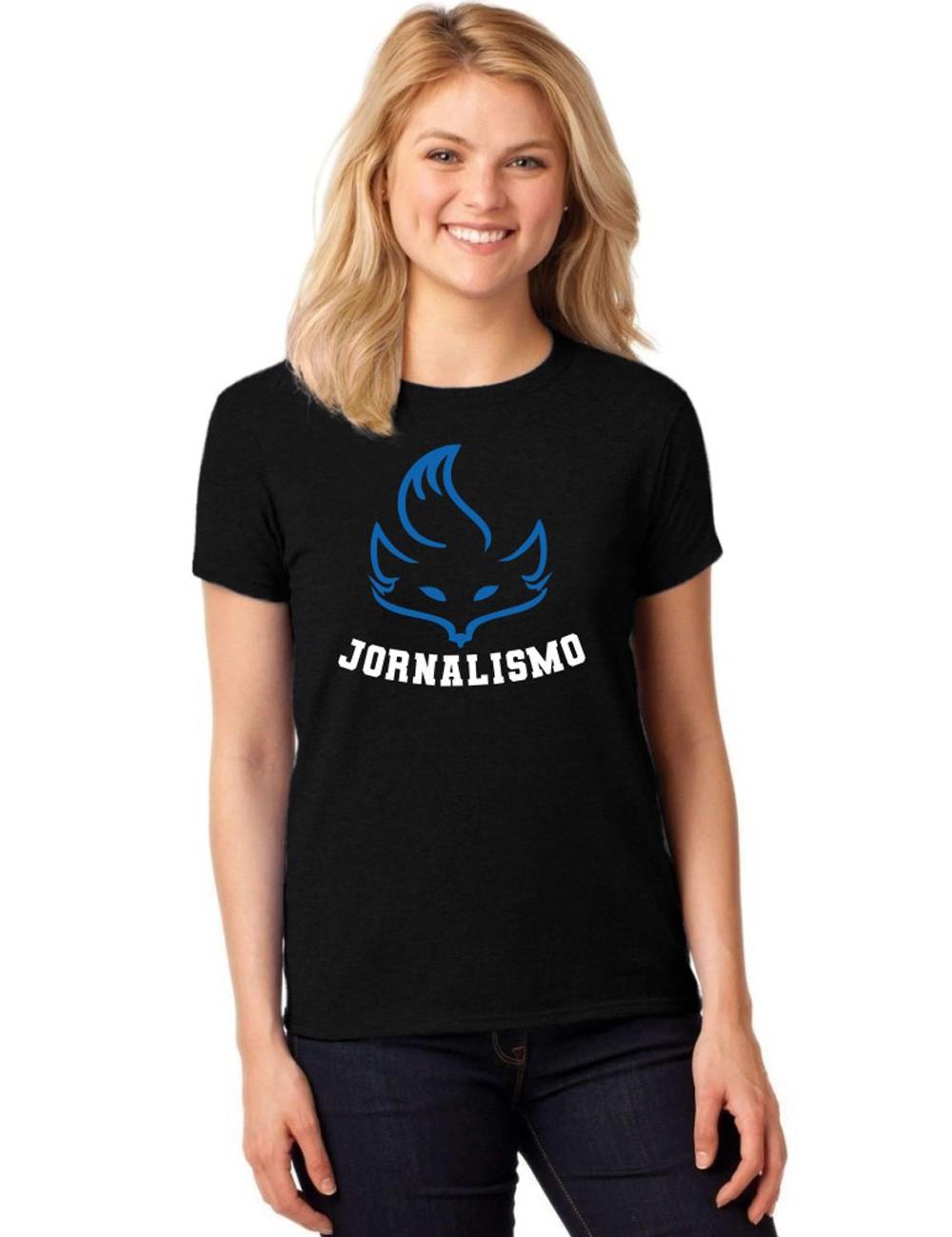 Camiseta Feminina T-Shirt Universitária Faculdade Jornalismo