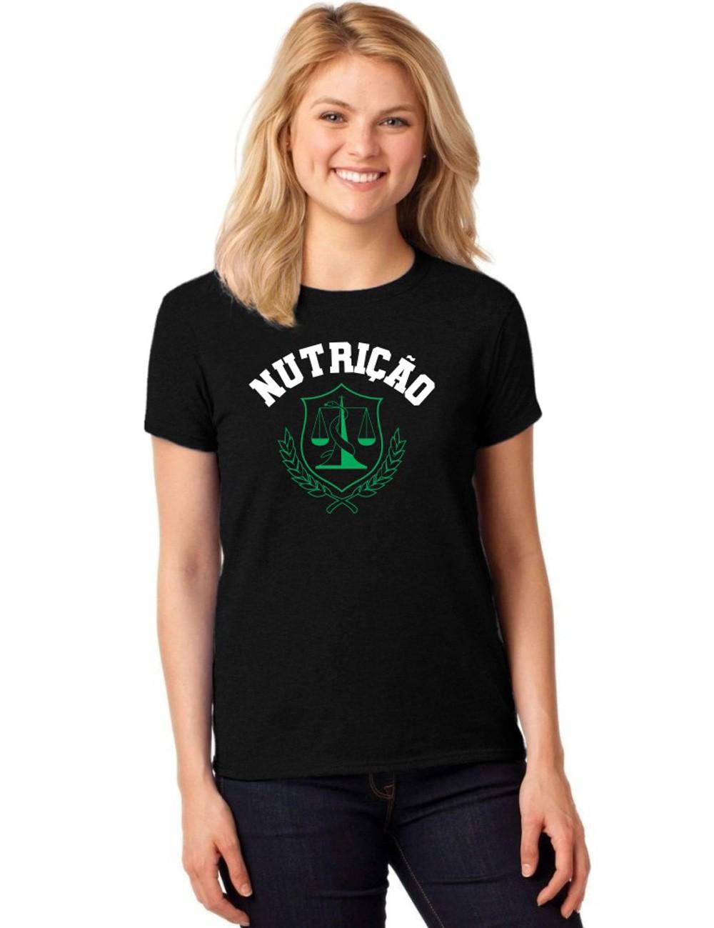 Camiseta Feminina T-Shirt Universitária Faculdade Nutrição
