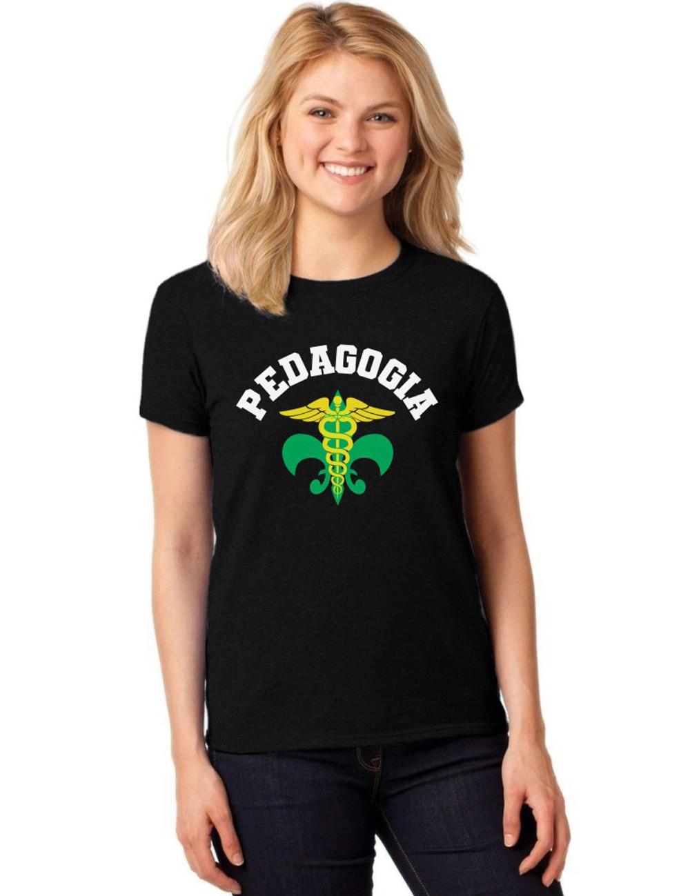 Camiseta Feminina T-Shirt Universitária Faculdade Pedagogia