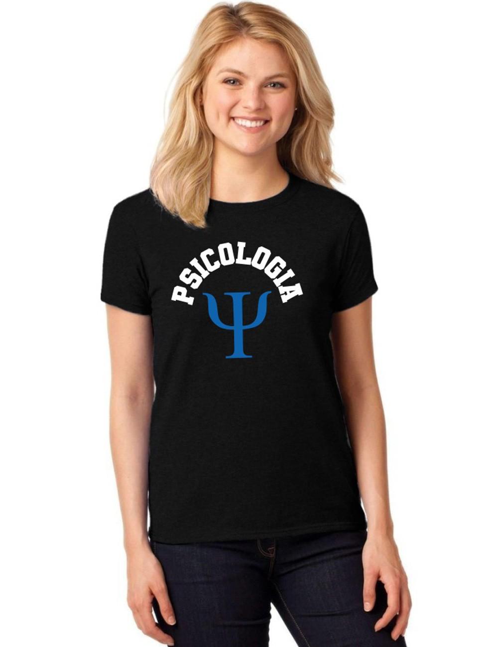 Camiseta Feminina T-Shirt Universitária Faculdade Psicologia