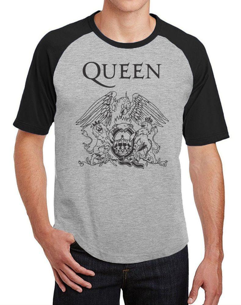 Camiseta Masc Raglan Banda Queen ES_056