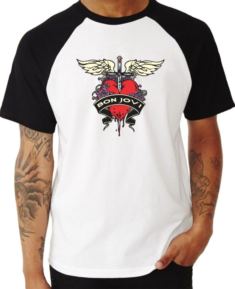 Camiseta Masc Raglan Bon Jovi ES_035