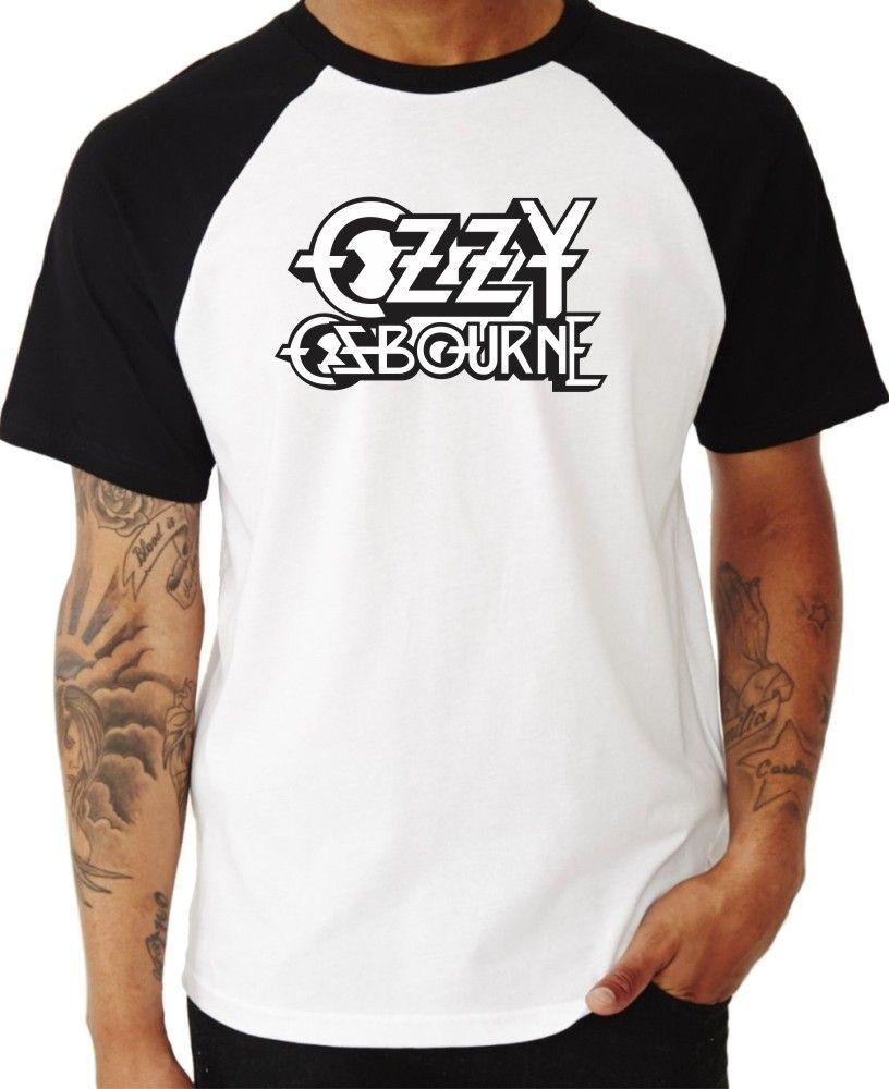 Camiseta Masc Raglan Ozzy Osbourne Logo ES_065