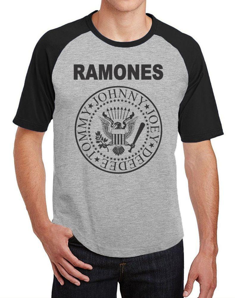 Camiseta Masc Raglan Ramones Logo ES_068