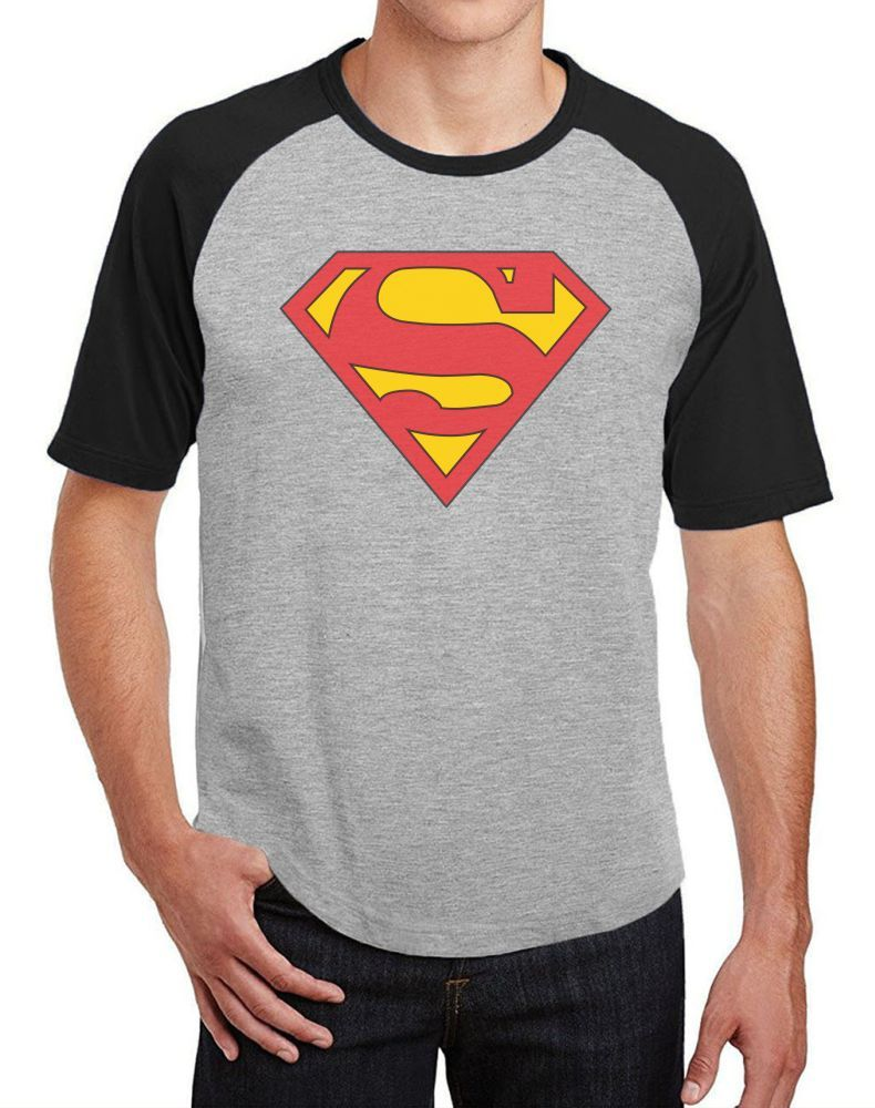 Camiseta Masc Raglan Superman ES_008