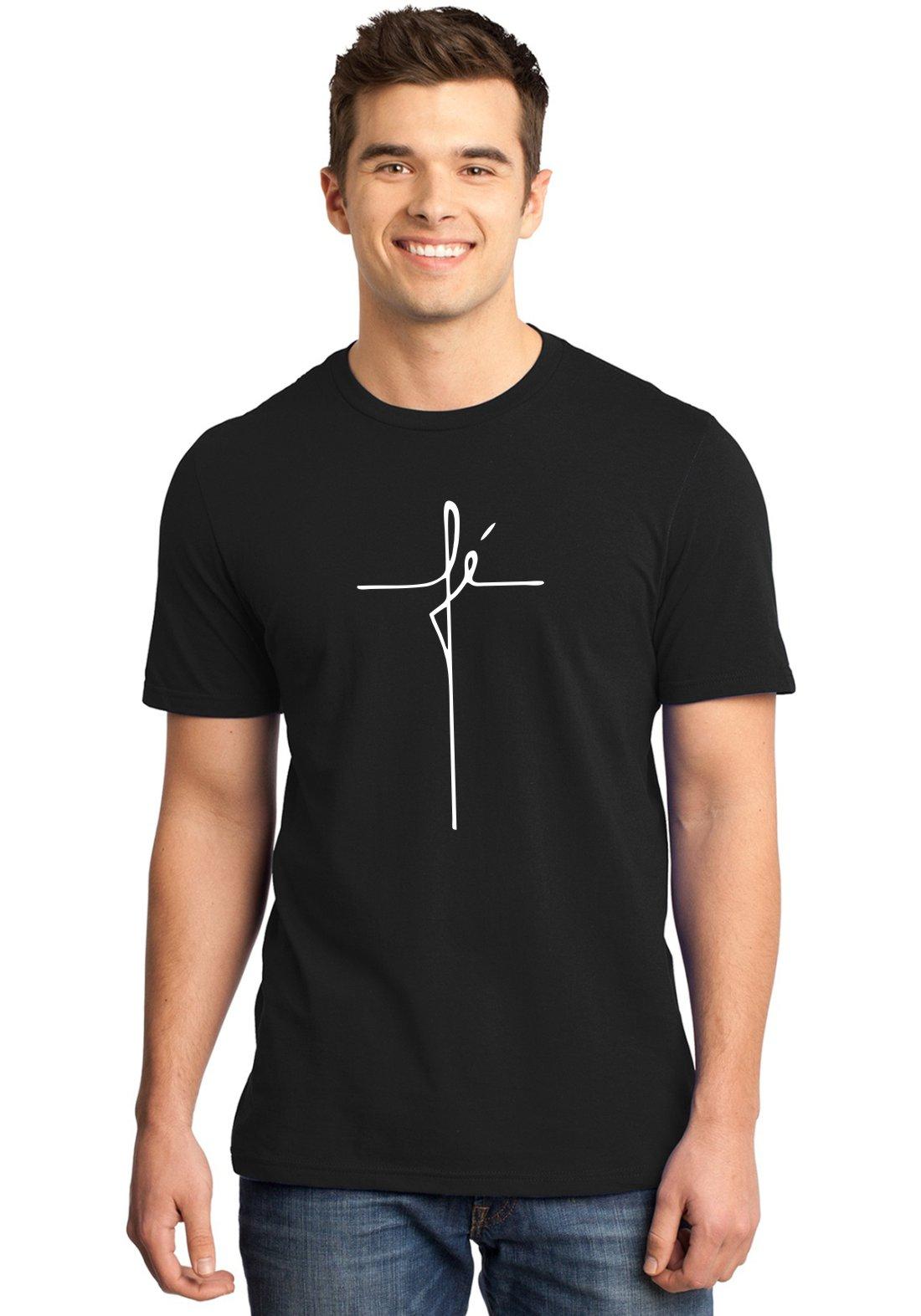 Camiseta Masculina Cristã Fé Religiosa ER_103