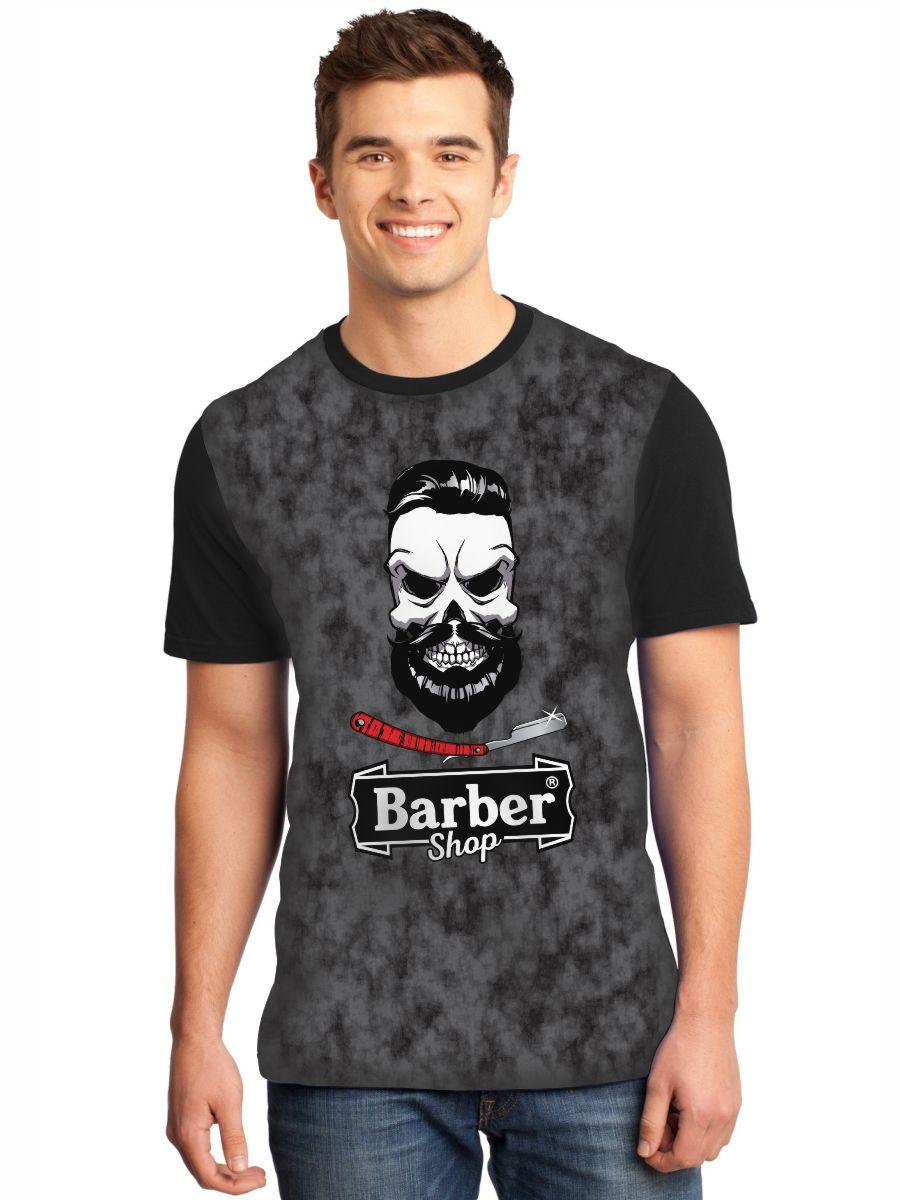 Camiseta Masculina Full Printed Barbearia Classica Barber Shop FP_020