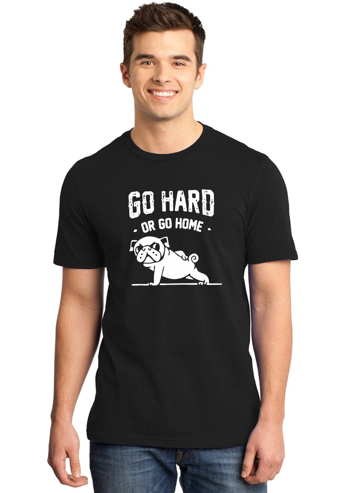 Camiseta Masculina Go Hard Or Go Home Pug ER_149