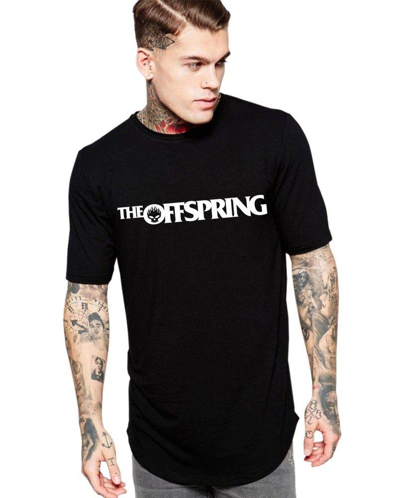 Camiseta Masculina Oversized Long Line Banda The Offspring Logo ER_029