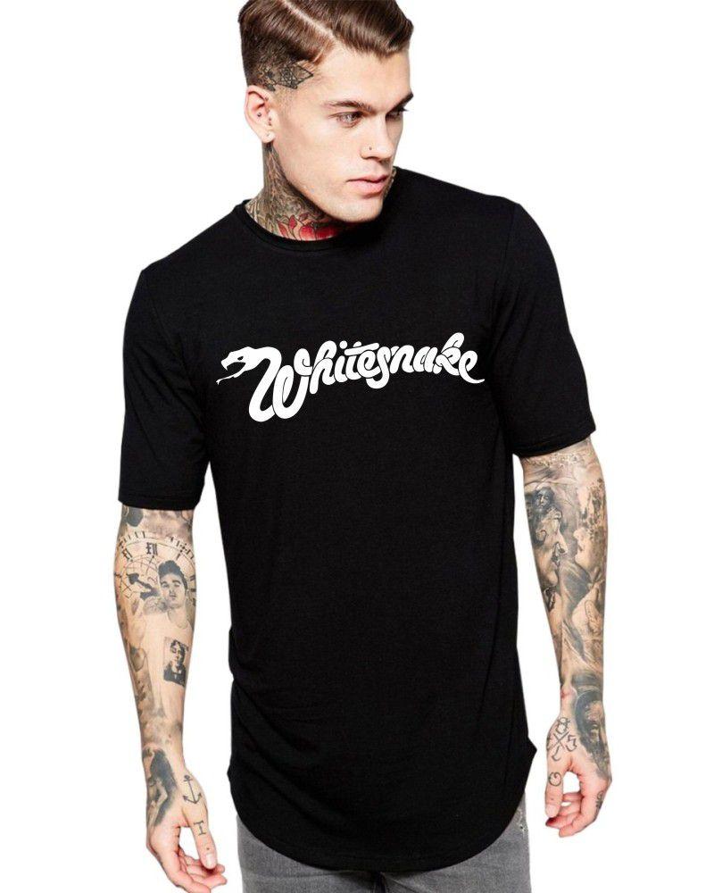 Camiseta Masculina Oversized Long Line Banda Whitesnake ER_008